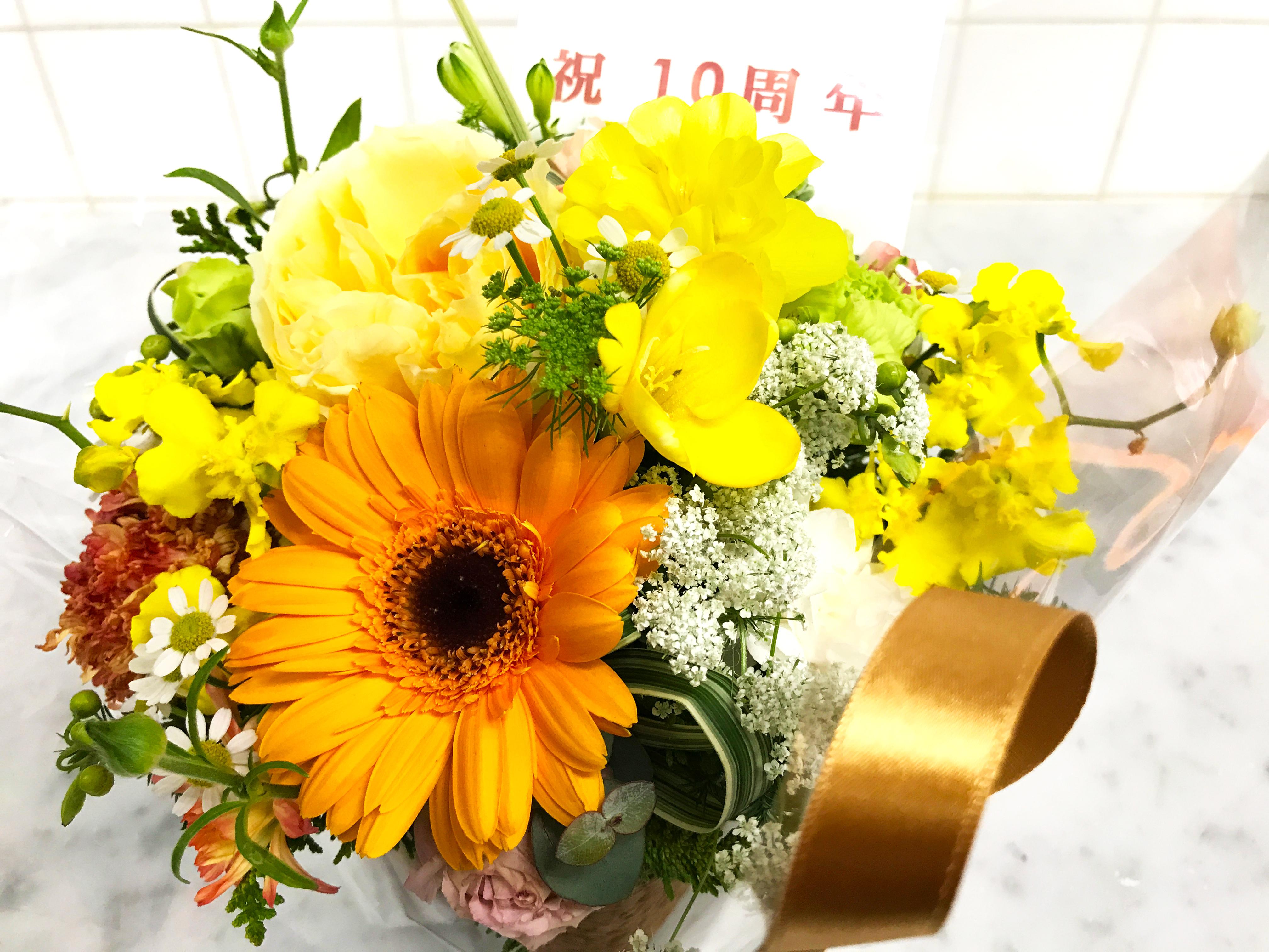 10周年の花
