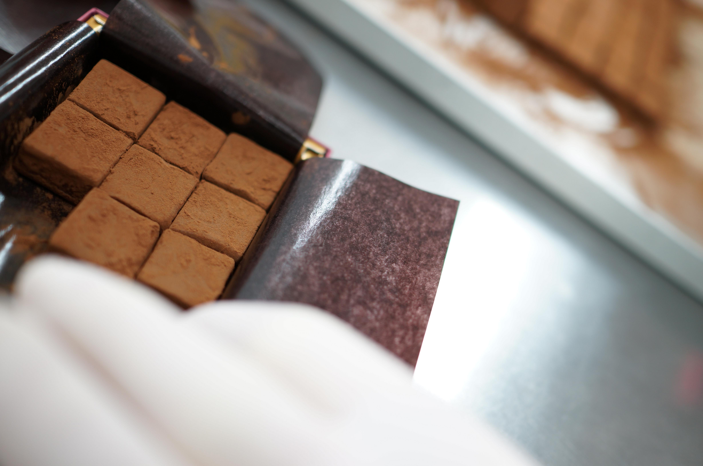生チョコレート箱詰め